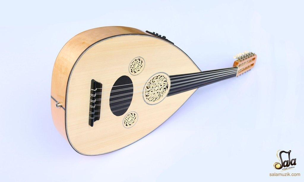 Turkish Professional Half Cut Electric Oud Ud String Instrument OUDE #3   B07D16HLKR