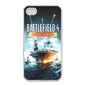 Protection Cover Kqlhx iPhone 4,4S Cell Phone Case White Battlefield Personalized Durable Cases