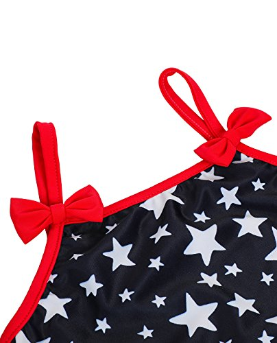 iDrawl Girls Tankini Beach Sport Swimsuit Two Piece Stars Swimwear by iDrawl (Image #4)