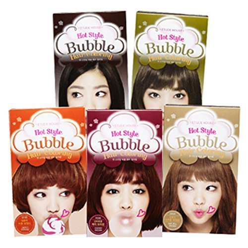 [Etude House] Hot Style Bubble Hair Coloring New BR08 Natural Brown