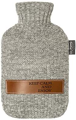 "Fashy Wärmflaschen mit Strickbezug""Keep calm and enjoy"", 2000 ml"
