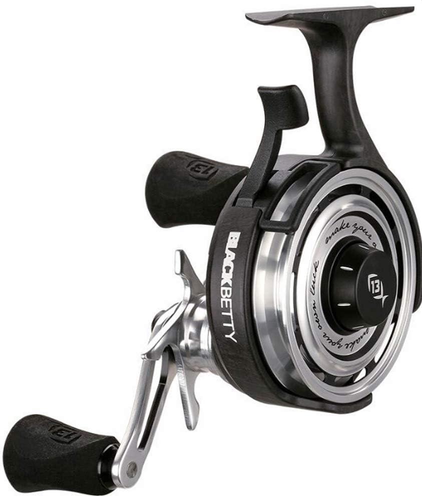 13 Fishing Black Betty 2.5:1 Freefall Inline Ice Fishing Reel