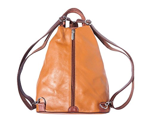 Sac 207 marron amp; Florence Pour Leather Porté Marron Tan 207 Dos À Noir Femme Au Clair Bordeaux Main multicolore UwCEZqrw