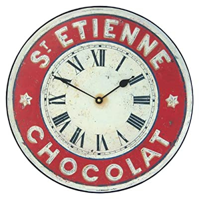 Roger Lascelles Chocolate French St. Etienne Kitchen Wall Clock, 14.2-Inch - 1 year guarantee Battery included Made in england - wall-clocks, living-room-decor, living-room - 512HImO4y2L. SS400  -
