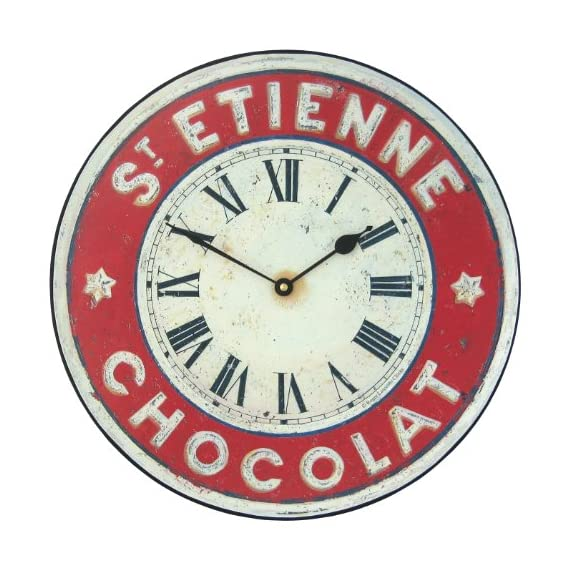 Roger Lascelles Chocolate French St. Etienne Kitchen Wall Clock, 14.2-Inch - 1 year guarantee Battery included Made in england - wall-clocks, living-room-decor, living-room - 512HImO4y2L. SS570  -