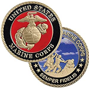 United States Marine Corps Semper Fidelis Challenge Coin from Eagle Crest