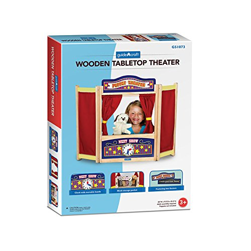 GUIDECRAFT USA PRETEND & PLAY TABLETOP THEATER (Set of 3) by Guidecraft