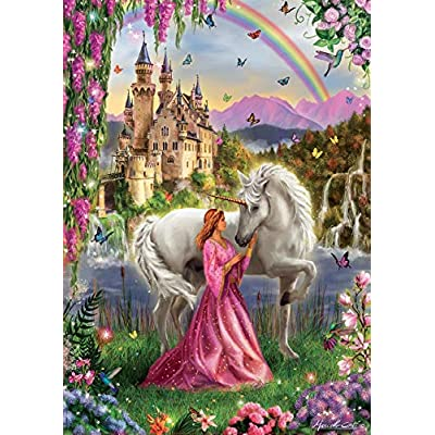Fairy and Unicorn 500 Piece Puzzle: Toys & Games