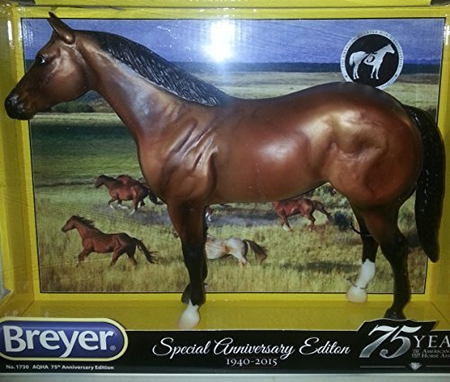 Breyer Model Horses Bay - Breyer Traditional 1730 Aqha 75th Anniversary Ed Quarter Horse New, Bay