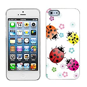 One Tough Shield ? SLIM-FIT Hard Cover Phone Case for Apple iPhone 5 5s - (Ladybug)