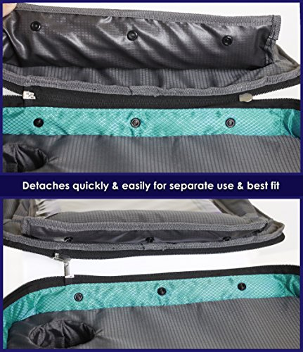 ORGANIZED EMPIRE's Detachable 4 in 1 Car Seat Travel Tray, Storage Organizer, Carry Bag & Tablet Holder for kids all in one. Most stable back seat Snack Tray on the market, no balancing required by Organized Empire (Image #4)