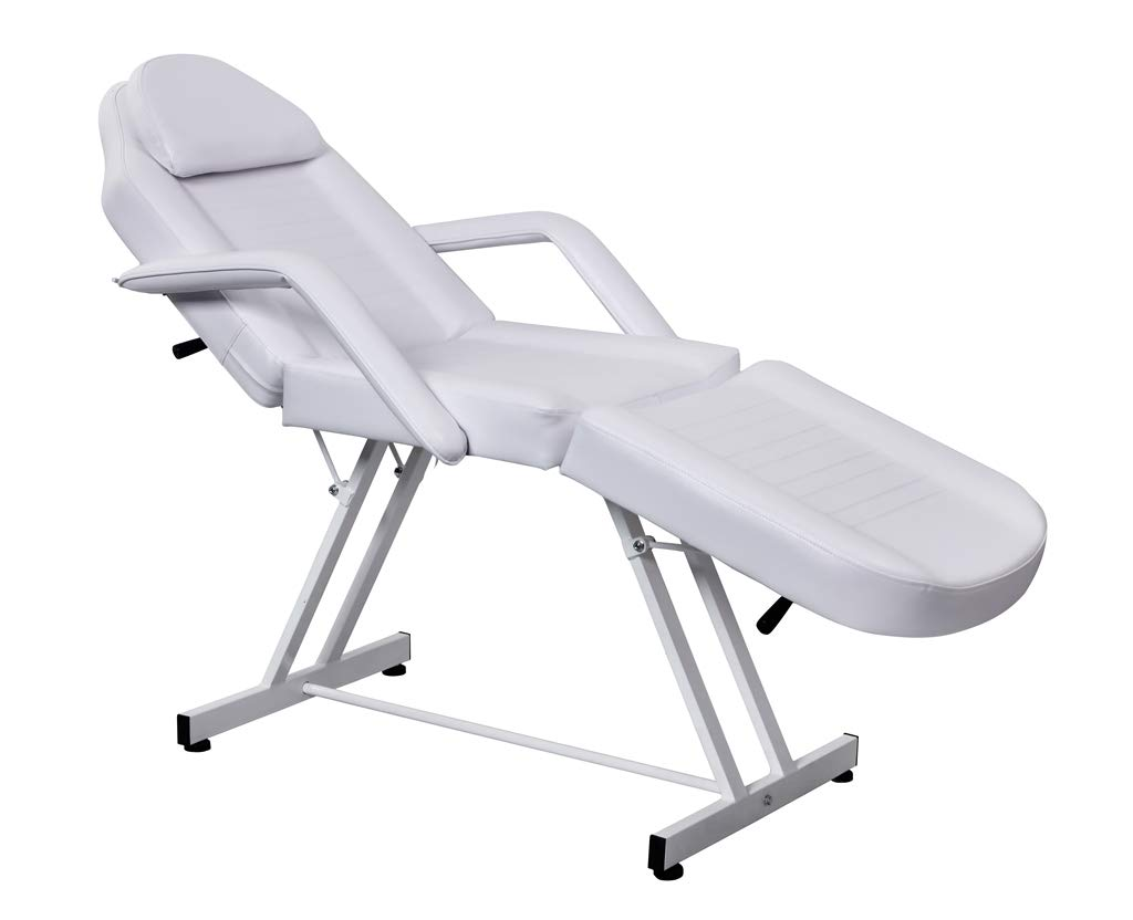 Professional Beauty Salon Facial Table Bed Chair for Massage Facial Tattoo with Leather Cover