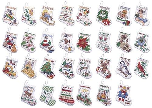 Bucilla 84293 Tiny Stocking Ornaments Counted Cross Stitch K