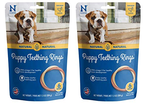 Dog Chew Ring (N-Bone Puppy Teething Ring Chicken Flavor (1 Pack Of 6 Rings))
