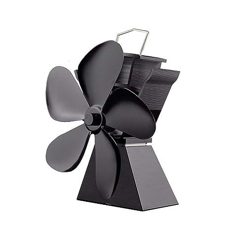 Ventilador de estufa alimentado por calor de 5 cuchillas Premium Ahorro de combustible Ventilador de estufa