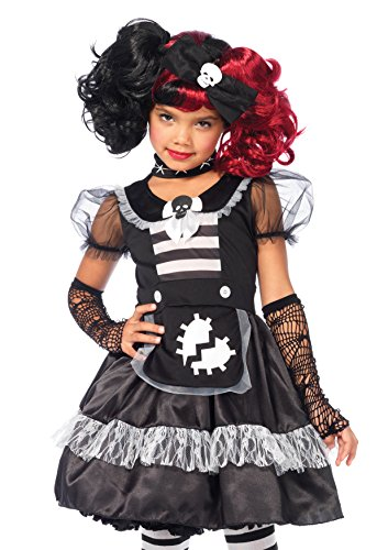 Doll Gothic Costumes Rag Child (Leg Avenue Children's Rebel Rag Doll)