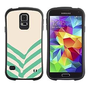 "Pulsar iFace Series Tpu silicona Carcasa Funda Case para Samsung Galaxy S5 , Verde Beige Rayas Líneas"""