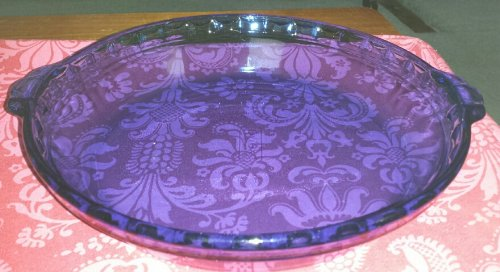 Pyrex Cobalt Blue Fluted Deep Dish Pie Plate with Handles 9.5 inch