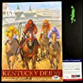 Mike Smith Bob Baffert Autograph 2018 Kentucky Derby Program Justify Coa - PSA/DNA Certified - Autographed Horse Racing Photos