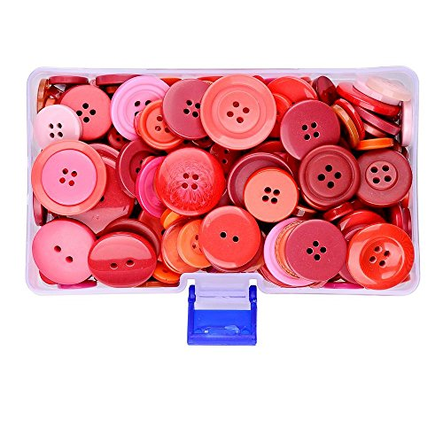 Red Sewing (Supla Mixed Button Sizes Red Sewing Button Various Sizes Shades and Styles Christmas buttons - Sewing Buttons (red))