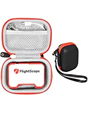 GetGear Protective case for FlightScope Mevo-Portable Personal Launch Monitor for Golf, mesh Accessories Pocket for Cable, Convenient Carabiner