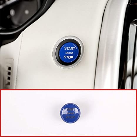 YIWANG ABS Car Engine Start Stop Switch Button Cover Trim For Discovery 5 LR5 L462 2017 2018,RR Sport 2014-2019,RR Vogue 2013-2019 Replacement Part Car Accessories Red