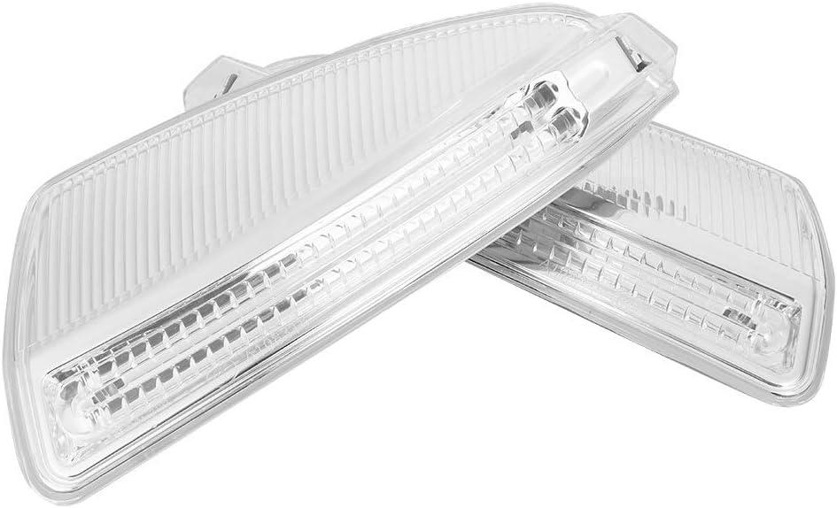 KSTE Side Specchio Segnale di girata della Luce Fit Compatible with Mercedes-Benz Classe C C250 C300 Driver + Lato passeggero