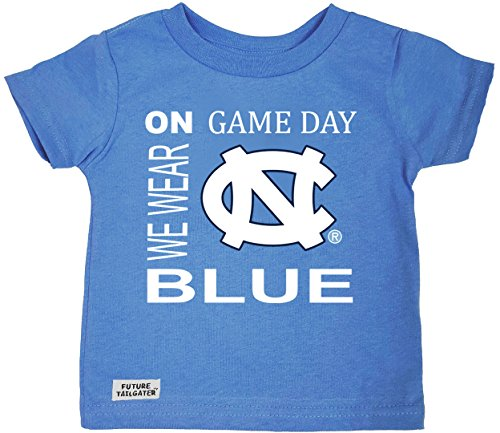 Future Tailgater North Carolina UNC Tar Heels On Game Day Baby/Toddler T-Shirt (6 Months) ()
