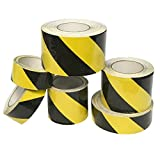 """EasyGoProducts SlipSafe Caution Yellow Black Anti Slip Tape – Indoor Outdoor Caution Yellow Black Safety Tape – Highest Traction Non Skid Tape - Non Slip Traction – 2"""" and 4"""""""