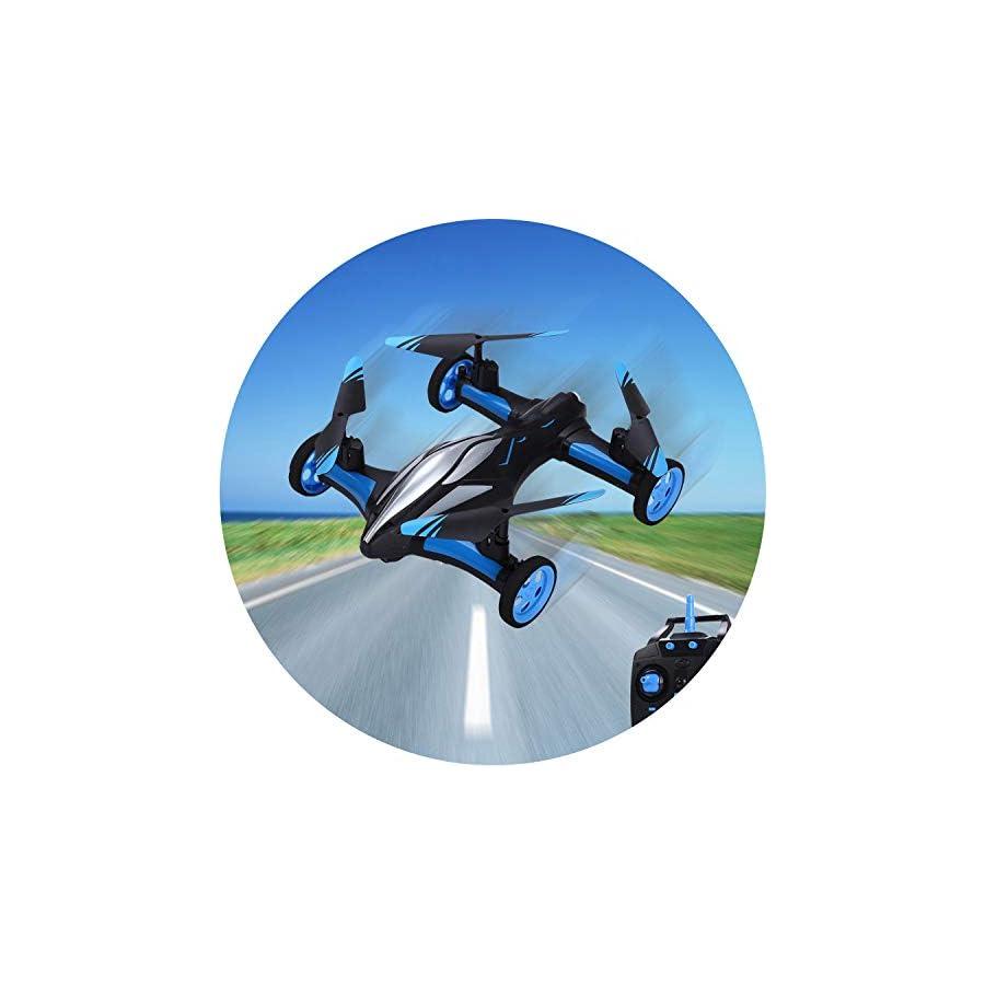 Original H23 2.4G 4CH 6-Axis Gyro Air-Ground Flying Car RC Drone RTF Quadcopter with 3D Flip One-Key Return Headless Mode