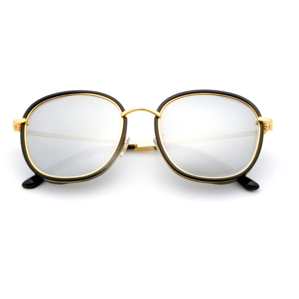 YANJING Gafas de Sol de Mujer Gafas de Sol de Marco Completo ...