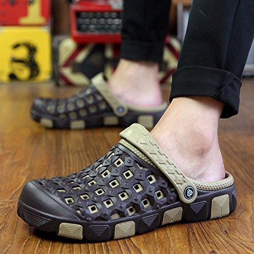 Das neue Paar Freizeit Schuh Männer Sandalen Sommer Mode Loch Schuh Strand Sandalen ,schwarz,US=9.5,UK=9,EU=43 1/3,CN=45
