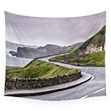 "Society6 Windy Road,Dunluce Castle,Ireland,Northern Ireland Wall Tapestry Small: 51"" x 60"""