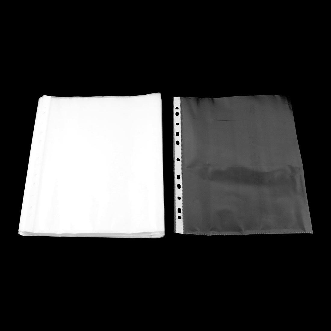 SOURCING MAP sourcingmap/® Archivo de almacenamiento de papel A4 de pl/ástico protector de hoja clara de 0,03cm de espesor 100pcs