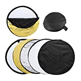 DealMux 110cm 5-in-1 Photography Studio Photo Disc Collapsible Light Reflector