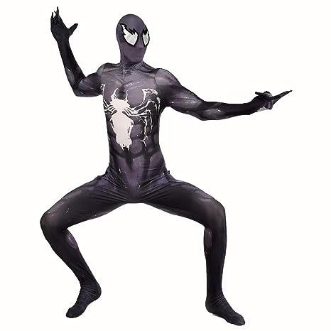 7efdabb363ac2 GIFT ZHIZHUXIA Venom Symbiote Cosplay para Adultos Medias elásticas Disfraz  de Halloween Fiesta de Disfraces de