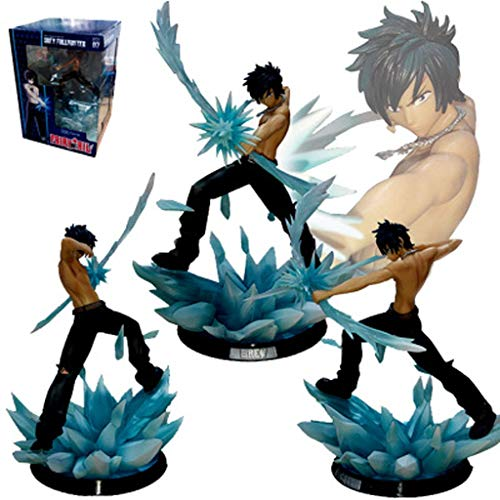 LLDDP Anime character Model Toy Fairy Tail Model Battle Edition Ice Shape Big Gray Decoration Character Statue Boy Gift Adult Child Toy Boxed Decoration 28cm ()