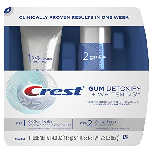 Crest Gum Detoxify + Whitening 2 Step Toothpaste, 4.0 and 2.3 oz