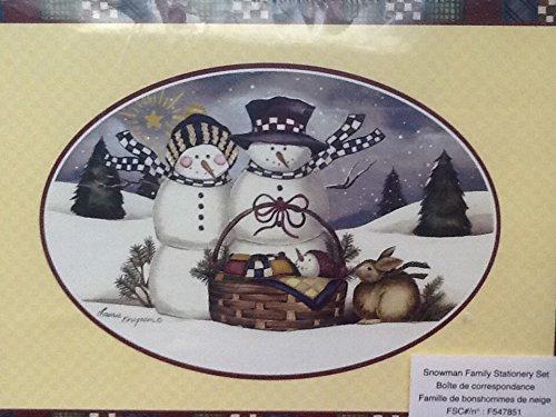 Family Stationery - Snowman Family Stationery Set NIB