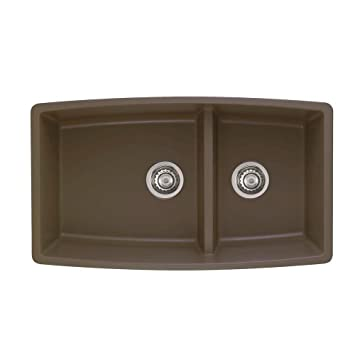 Exceptional Blanco 441313 Performa 1.75 Bowl Sink, Café Brown