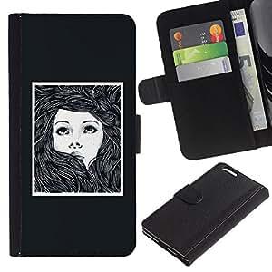 iBinBang / Funda Carcasa Cover Skin Case - Girl Woman Poster Drawing Frame - Apple iPhone 6 Plus 5.5