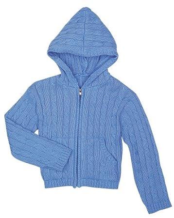 5c9805639 Amazon.com  Elegant Baby Hood Sweater- 6 Mos- Bright Blue  Baby