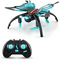 Redpawz JJRC H42WH Butterfly WIFI FPV RC Quadcopter with Voice Control Altitude Hold Mode RTF