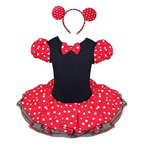 Starkma Baby Girl Child Elsa Anna Princess Tutu Dancewear Party Dress (120cm(6-7Y), Minne Mouse Tutu (Minne Mouse Costumes)