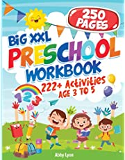 BIG XXL Preschool Workbook AGE 3 TO 5: 222+ Activities Letter Tracing - Number 1-10 - Early Math - Coloring for Kids - Lines and Shapes Pen Control - Toddler Learning and More | Pre K to Kindergarten