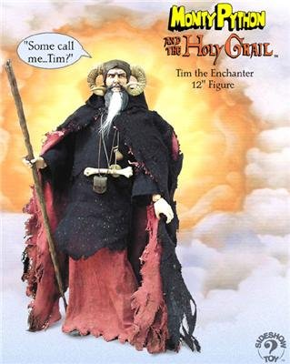 JOHN-CLEESE-AS-TIM-THE-ENCHANTER-12-Inch-Monty-Python-and-the-Holy-Grail-2002-Sideshow-Toy-Collectible-Action-Figure