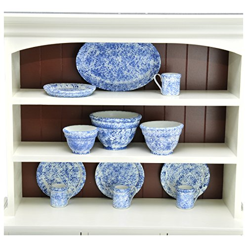 The Queen's Treasures Vintage Style Splatter Ware Serving Set Kitchen Set, 3 Nesting Bowls, Platter, 4 Dishes & 4 Cups Sized Perfectly for use with 18
