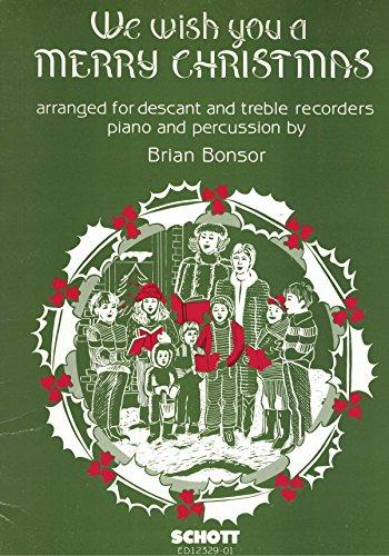 We wish you a Merry Christmas - soprano- et flûte à bec alto, batterie et piano - Parties - ED 12329-01