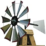 30-inch Windmill Head w/Plain Rudder & Instructions to Build an 8-Foot Tall Windmill
