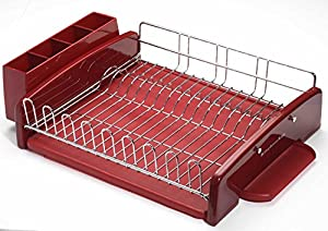 Kitchenaid classic 3 piece dish rack set red home kitchen - Kitchenaid dish rack red ...